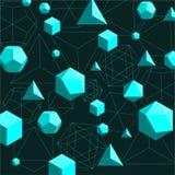 Fond abstrait de solides platoniques illustration de vecteur