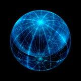 Fond abstrait de sphère de fractale Photographie stock libre de droits