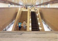 Fond abstrait de station de train ou de MRT, profondeur de Image libre de droits