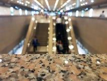 Fond abstrait de station de train ou de MRT, profondeur de Photographie stock libre de droits