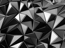 Fond abstrait de structure de triangle en métal Photographie stock