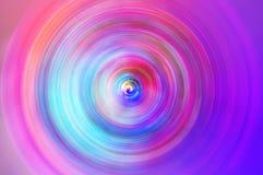 Fond abstrait de tache floue de mouvement radiale de cercle de rotation Photos libres de droits