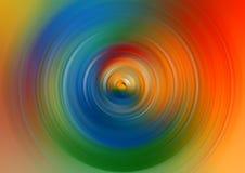 Fond abstrait de tache floue de mouvement radiale de cercle de rotation Image stock
