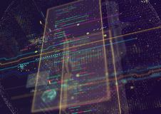 Fond abstrait de techno Photos libres de droits
