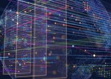 Fond abstrait de techno Image libre de droits