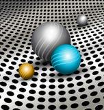 Fond abstrait de technologie avec des boules illustration de vecteur