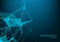 Fond abstrait de technologie avec la ligne et les points reliés Grande visualisation de données Visualisation de contexte de pers illustration stock