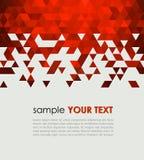 Fond abstrait de technologie avec la triangle Image stock