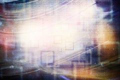 Fond abstrait de technologie d'intelligence artificielle illustration de vecteur