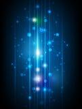 Fond abstrait de technologie de molécules Photos stock