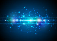 Fond abstrait de technologie de molécules Photographie stock libre de droits