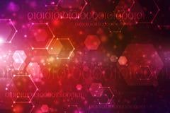 Fond abstrait de technologie de Digital, fond binaire, fond futuriste Images libres de droits