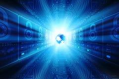 Fond abstrait de technologie de Digital, fond binaire, fond futuriste, concept de cyberespace Image libre de droits