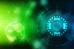 Fond abstrait de technologie, fond futuriste, concept de cyberespace illustration libre de droits
