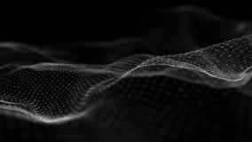 Fond abstrait de technologie Grande visualisation de donn?es Fond futuriste rendu 3d banque de vidéos