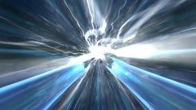 Fond abstrait de technologie, infographies, câble de cyberespace Photo stock