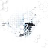 Fond abstrait de technologie Interface futuriste de technologie Photo libre de droits