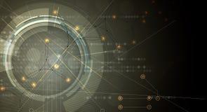 Fond abstrait de technologie Interface futuriste de technologie Images libres de droits