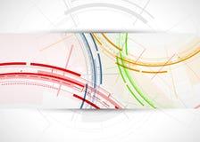 Fond abstrait de technologie Interface futuriste de technologie Vecto Images libres de droits