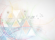 Fond abstrait de technologie Interface futuriste de technologie Vecto Photographie stock libre de droits