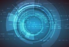 Fond abstrait de technologie Interface futuriste de technologie Vecto Image libre de droits