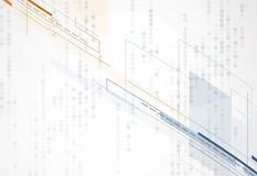 Fond abstrait de technologie Interface futuriste de technologie Vecto Photographie stock