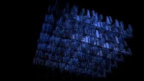 Fond abstrait de technologie de l'espace numérique bleu illustration stock