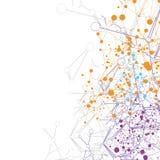 Fond abstrait de technologie de la Science, communication de réseau numérique illustration de vecteur