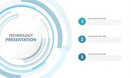 Fond abstrait de technologie numérique de Blue Circle, s futuriste illustration libre de droits