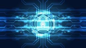 Fond abstrait de technologie numérique de sécurité vecteur d'illustration Image libre de droits