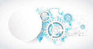 Fond abstrait de technologie Style futuriste avec trian bleu illustration stock