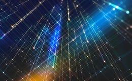 Fond abstrait de technologie Technologies futuristes dans la télécommunication mondiale illustration de vecteur