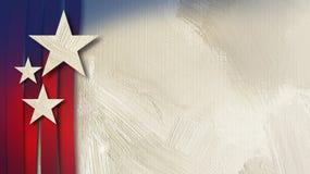 Fond abstrait de texture de bannière étoilée américaine Photos stock