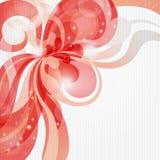 Fond abstrait de thème d'amour dans des sons rouges Photo libre de droits