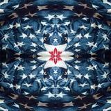 Fond abstrait de tissu fait en drapeau américain Photos libres de droits