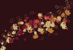 Fond abstrait de tourbillonnement malpropre de lame d'automne Photos libres de droits