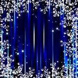 Fond abstrait de trame de flore de piste bleue illustration stock