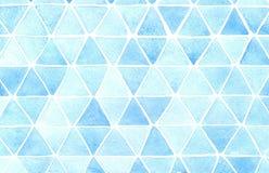 Fond abstrait de triangle Illustration fabriquée à la main d'aquarelle illustration libre de droits