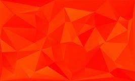 Fond abstrait de triangles - ardemment orange illustration libre de droits