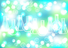 Fond abstrait de tubes à essai d'extrémité de molécule Photos libres de droits