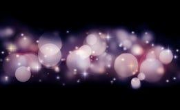 Fond abstrait de vacances des lumières rougeoyantes Image libre de droits