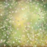 Fond abstrait de vacances, lumières de Noël, bokeh rougeoyant Photo libre de droits