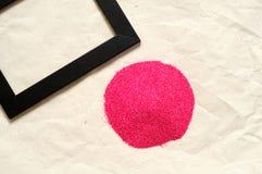 Fond abstrait de vacances, purpurin de rouge de petit morceau Photo stock