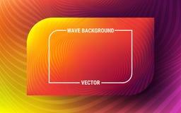 Fond abstrait de vague Modèle orange et violet lumineux Mouvement dynamique des formes géométriques Gradient vibrant illustration stock