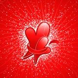 Fond abstrait de Valentine avec le coeur. Image stock