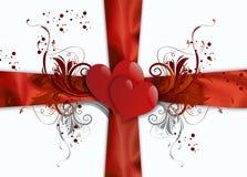 Fond abstrait de valentines Photos libres de droits
