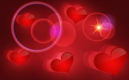 Fond abstrait de vecteur avec des coeurs. Photos libres de droits