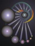 Fond abstrait de vecteur avec des sphères Illustration de Vecteur