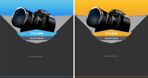 Fond abstrait de vecteur avec l'appareil photo numérique Images libres de droits