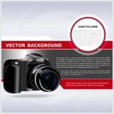 Fond abstrait de vecteur avec l'appareil photo numérique illustration libre de droits